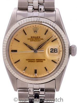 "Rolex Datejust ref 1601 Stainless Steel ""Tropical"" circa 1965"