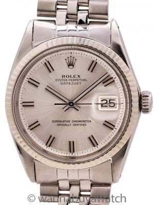 "Rolex Datejust ref 1601 Stainless Steel ""Fat Boy"" circa 1970"
